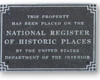 Aluminum National Register Plaque