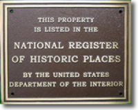 National Register Plaque for Historic Home