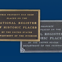 National Register Standard Plaques