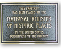 Bronze National Register Plaque
