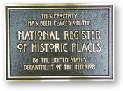 US national register of historic places plaque