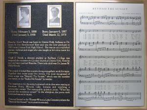 Music sheet metal photo plaque