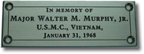 stainless steel bench plaque memoriam