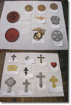 religious cemetery marker emblems