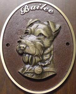 dog memorial plaque
