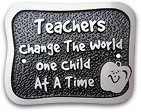 aluminum teacher plaque