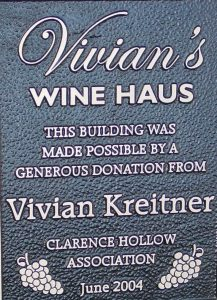 Wine Haus business plaque