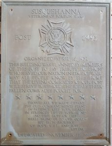 bronze plaque before restoration
