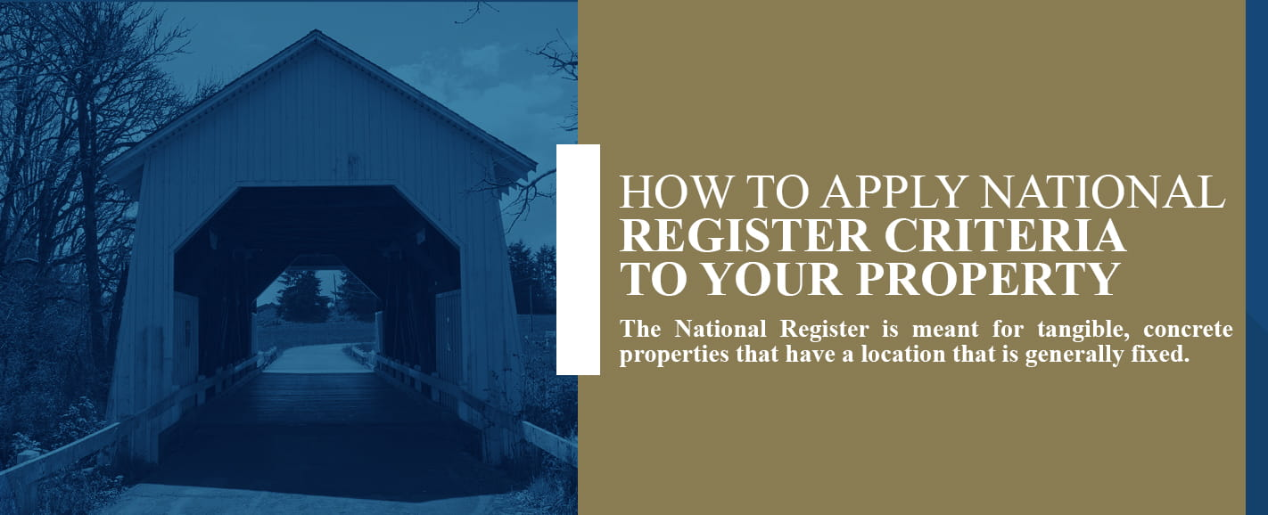 how to apply national register criteria