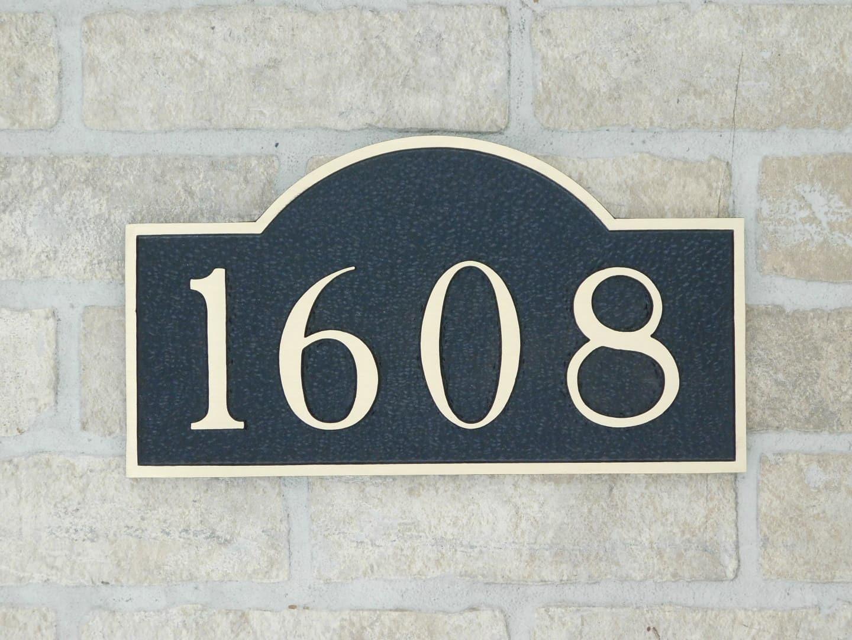 bronze house plaque