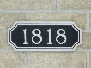 aluminum address number plaque