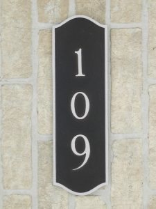 aluminum home numbers plaque