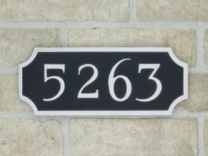 aluminum house number plaque
