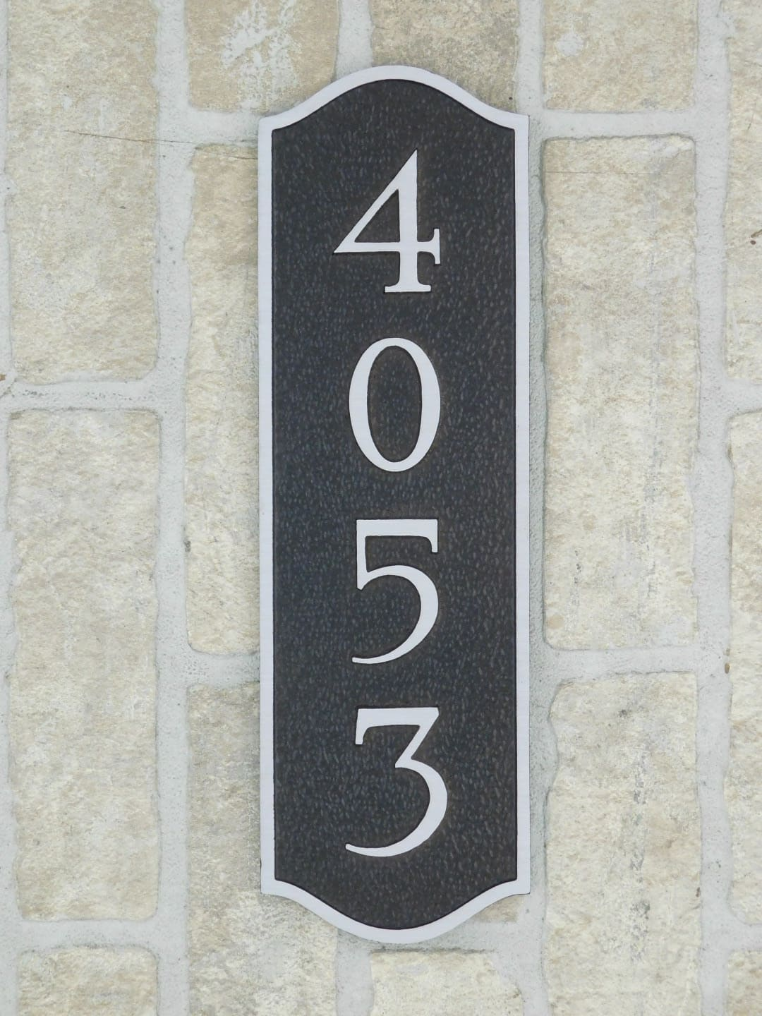 aluminum house plaque with address