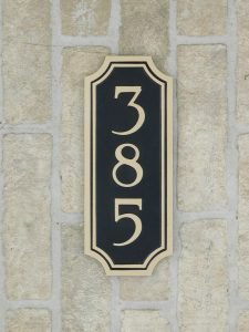 bronze address number plaque