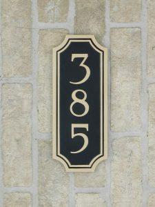 bronze address number plaque