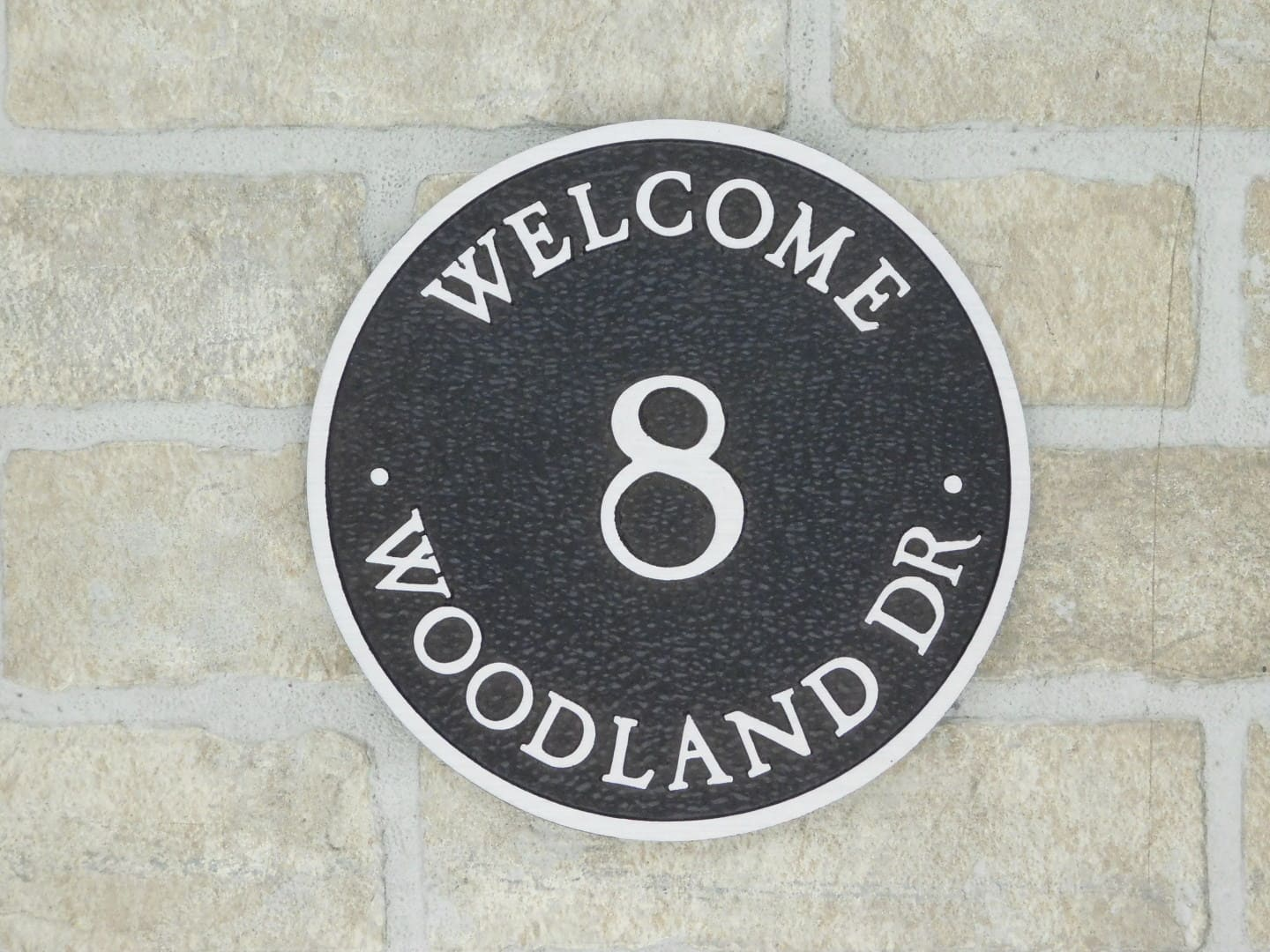 welcome bronze home plaque with address