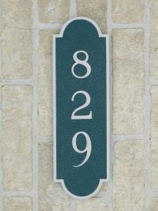 cast aluminum house plaque
