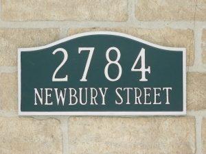 custom aluminum address plaque