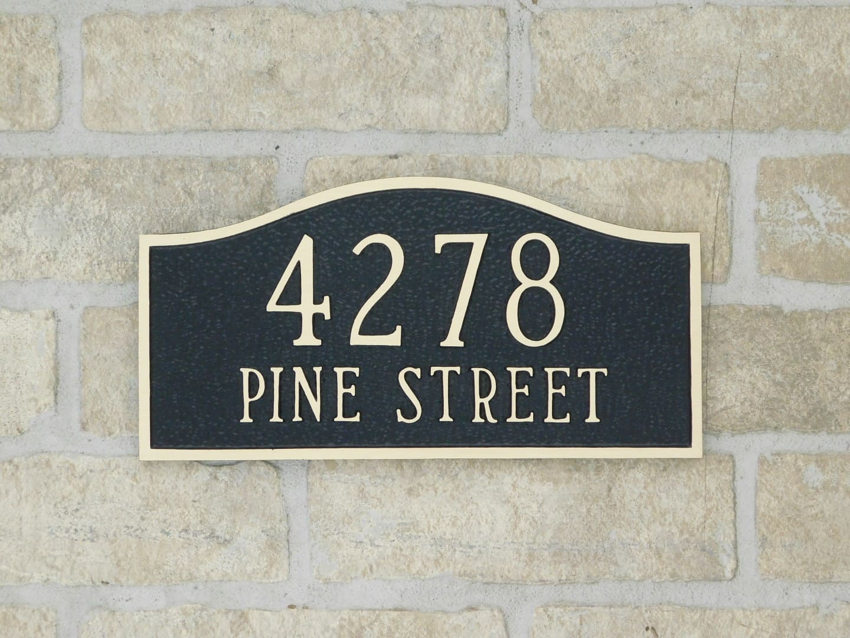 custom bronze address plaque