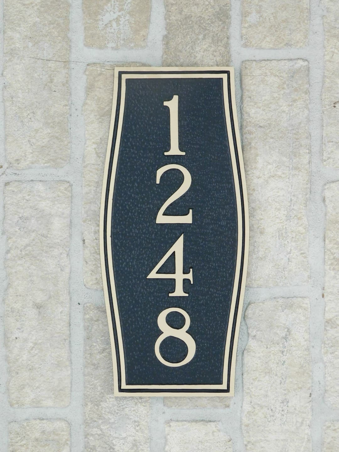 custom bronze house number plaque