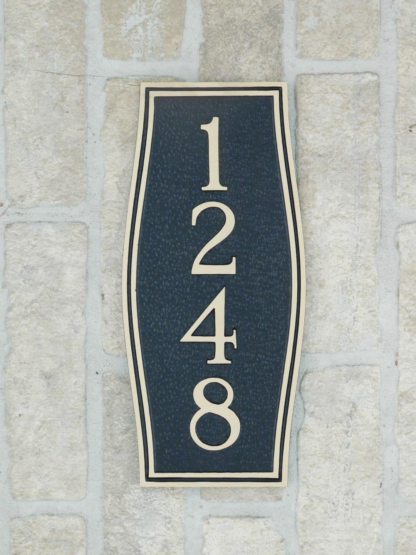 custom bronze house number plaque
