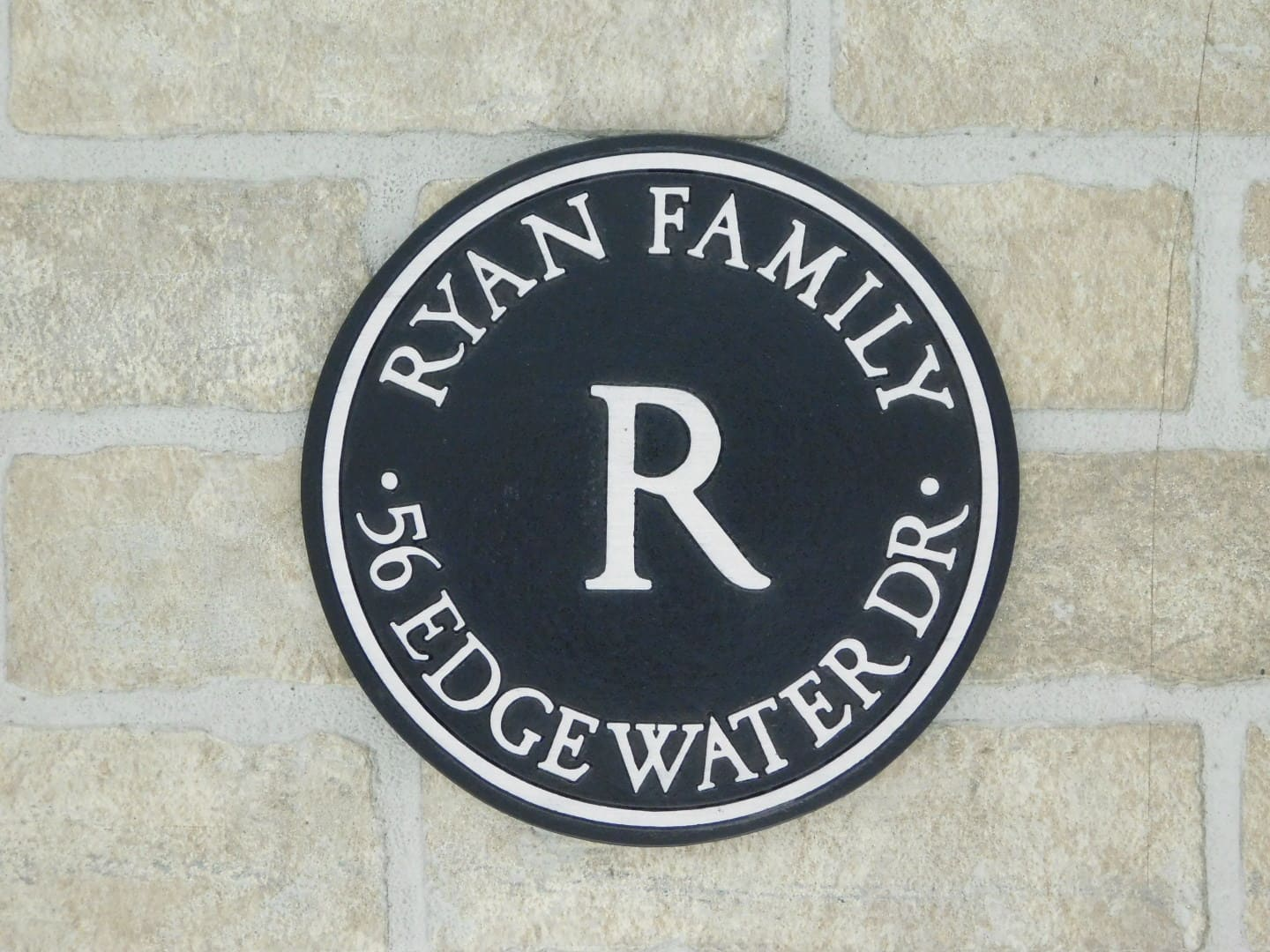 personalized house plaque with family name and address
