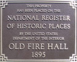 custom national register plaque for fire house