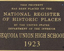 custom national register plaque for high school