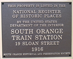 custom national register plaque for train station