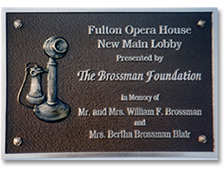 aluminum custom plaque for opera house