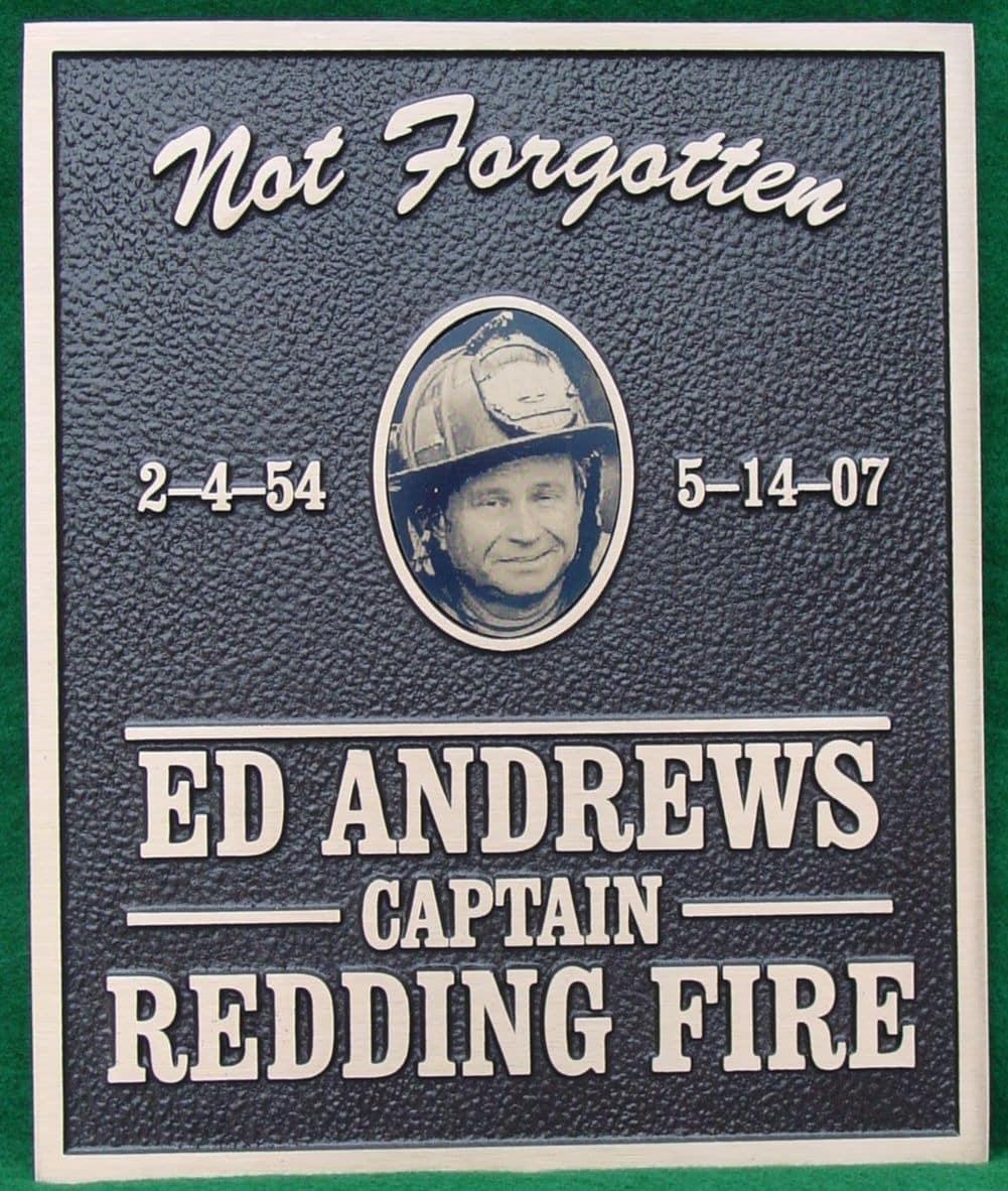 bronze firefighter memorial plaque