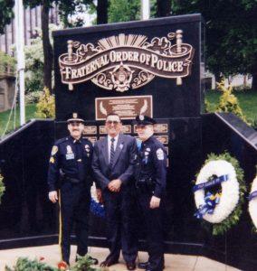 bronze police memorial plaque
