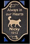 Cat memorial plaque