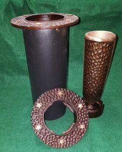 bronze cemetery vase with stars