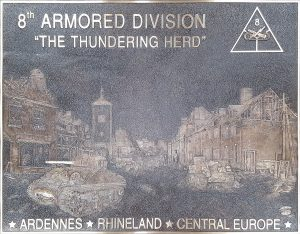 bas relief memorial plaque for army