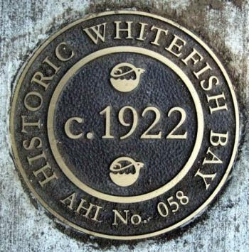 whitefish bay historic district plaque
